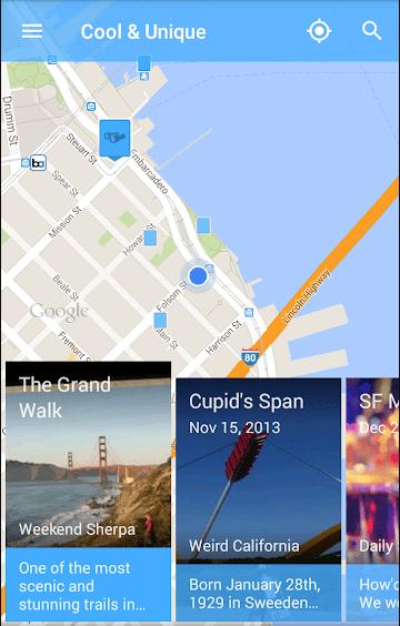 Screenshot of Field Trip app
