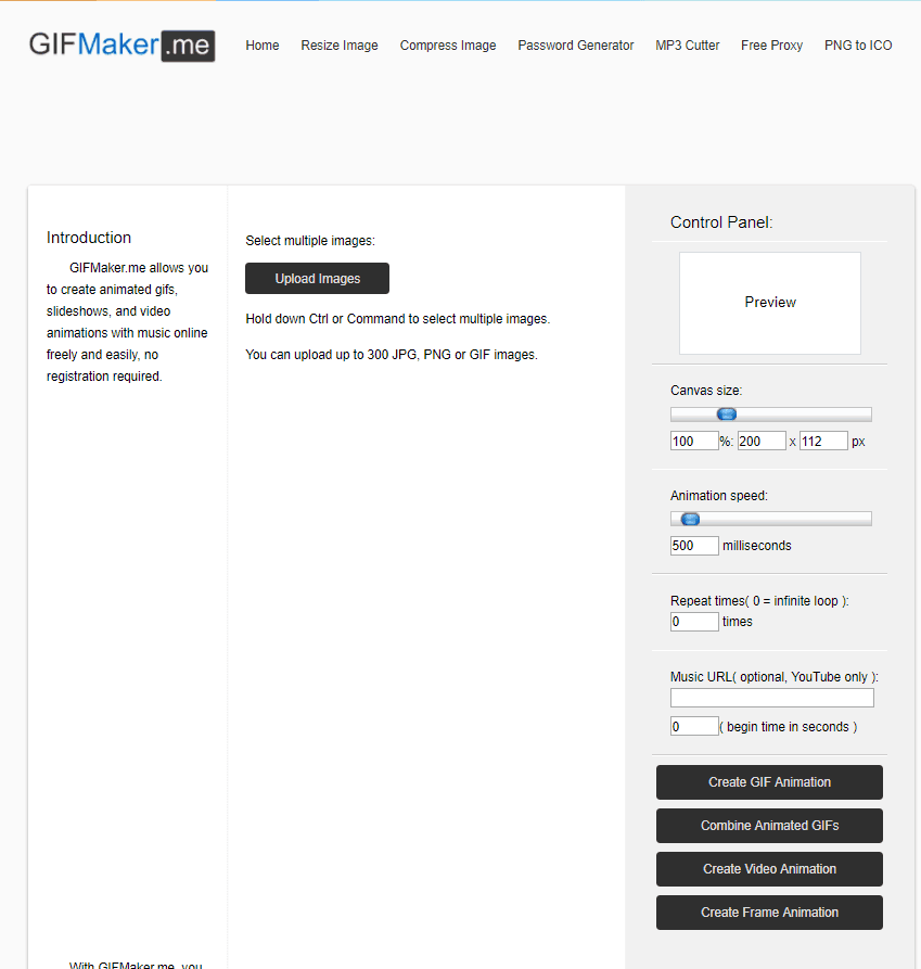 Creating a GIF with GIFMaker.me