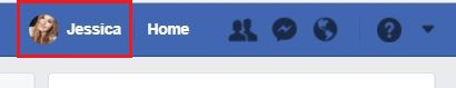 View your Facebook profile page