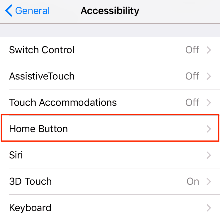 "Control your iOS device's ""Home"" button settings"