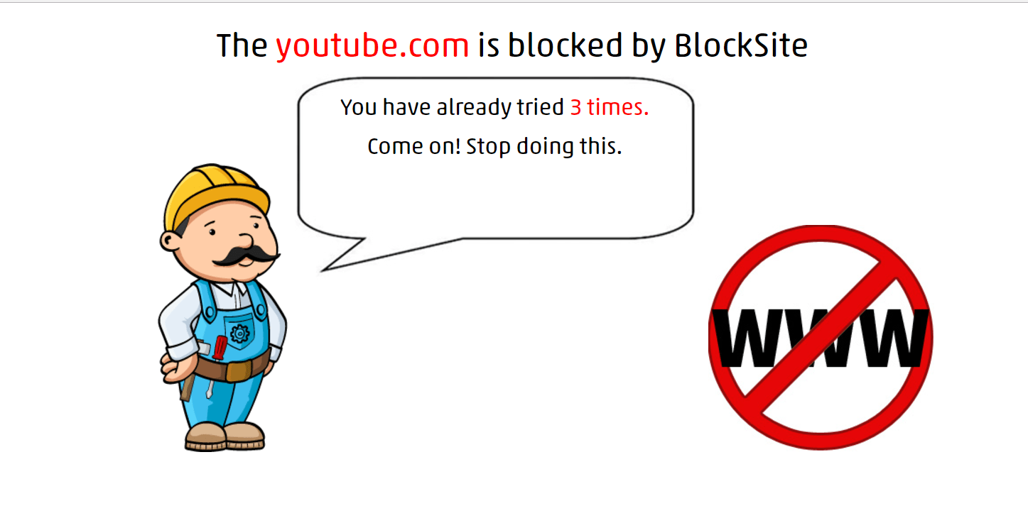 YouTube successfully blocked by Block Site