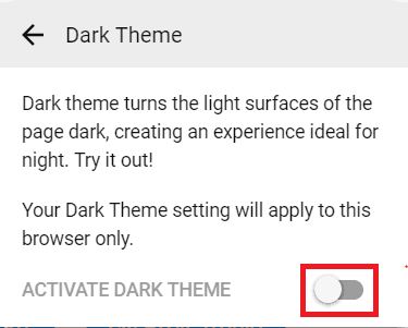 Enabling the Dark Theme in YouTube