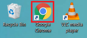 Opening the Google Chrome web browser