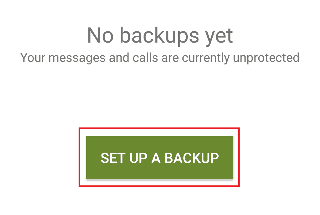 Set up your first SMS Backup & Restore backup