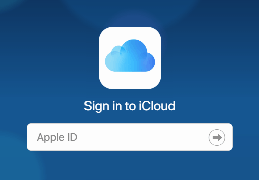 Signing into iCloud with an Apple ID