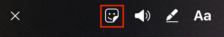 Add a sticker to an Instagram post