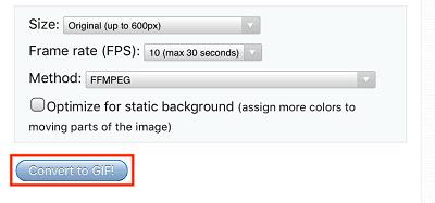 Convert to GIF button