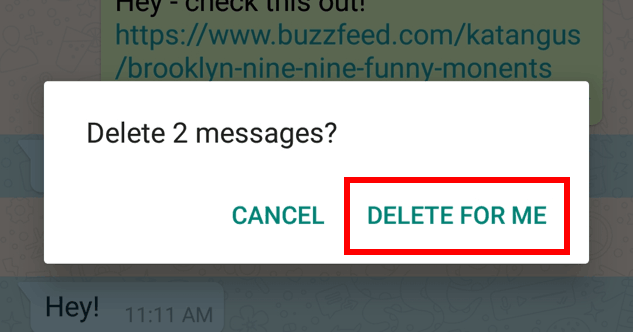 Confirm deleting message(s)