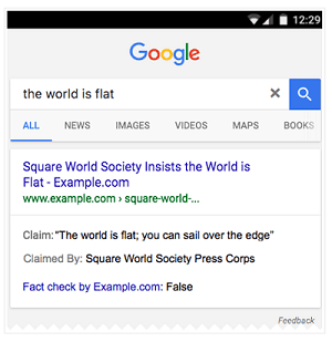 Google fact checking