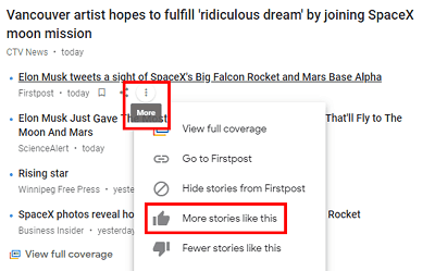More Stories Like This button