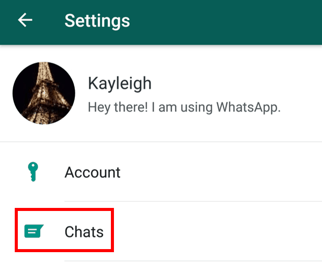 Manage chat settings