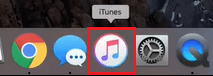 Open iTunes on your MacOS computer