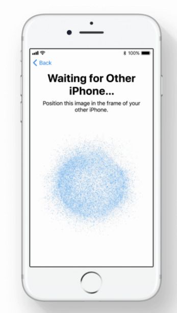 Align iPhones around image to continue setup