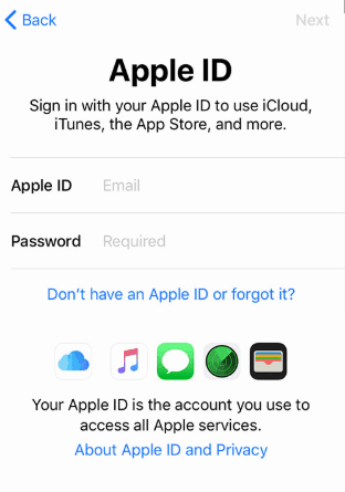 Sign into your Apple ID account
