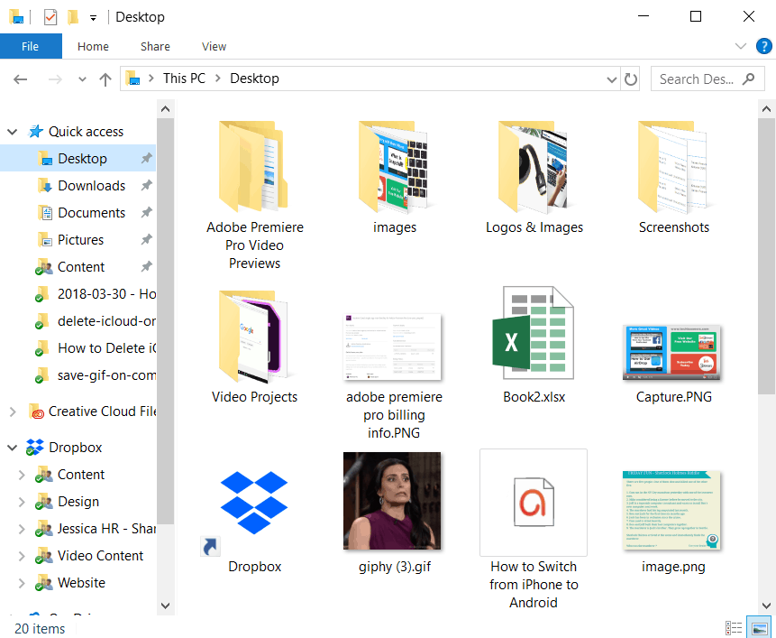 Locate the folder with your saved GIFs