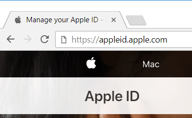 Go to the Apple ID management website