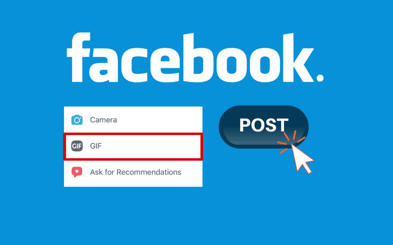 How to post a gif link on facebook