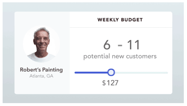 Tool for budgeting spending on Thumbtack leads