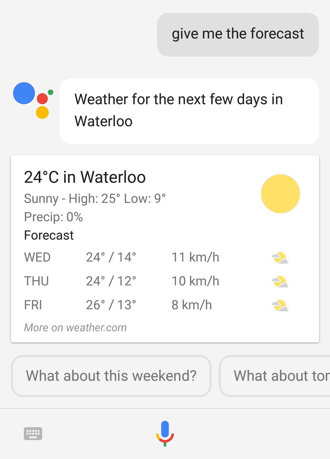 Google Assistant updating dynamic information