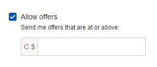 How to auto-reject offers with the quick listing tool