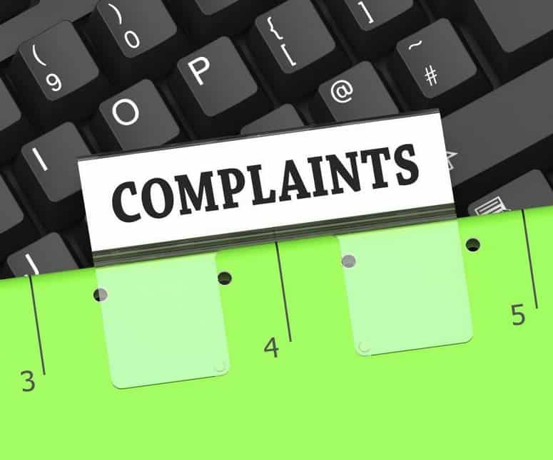 A large number of complaints against a seller
