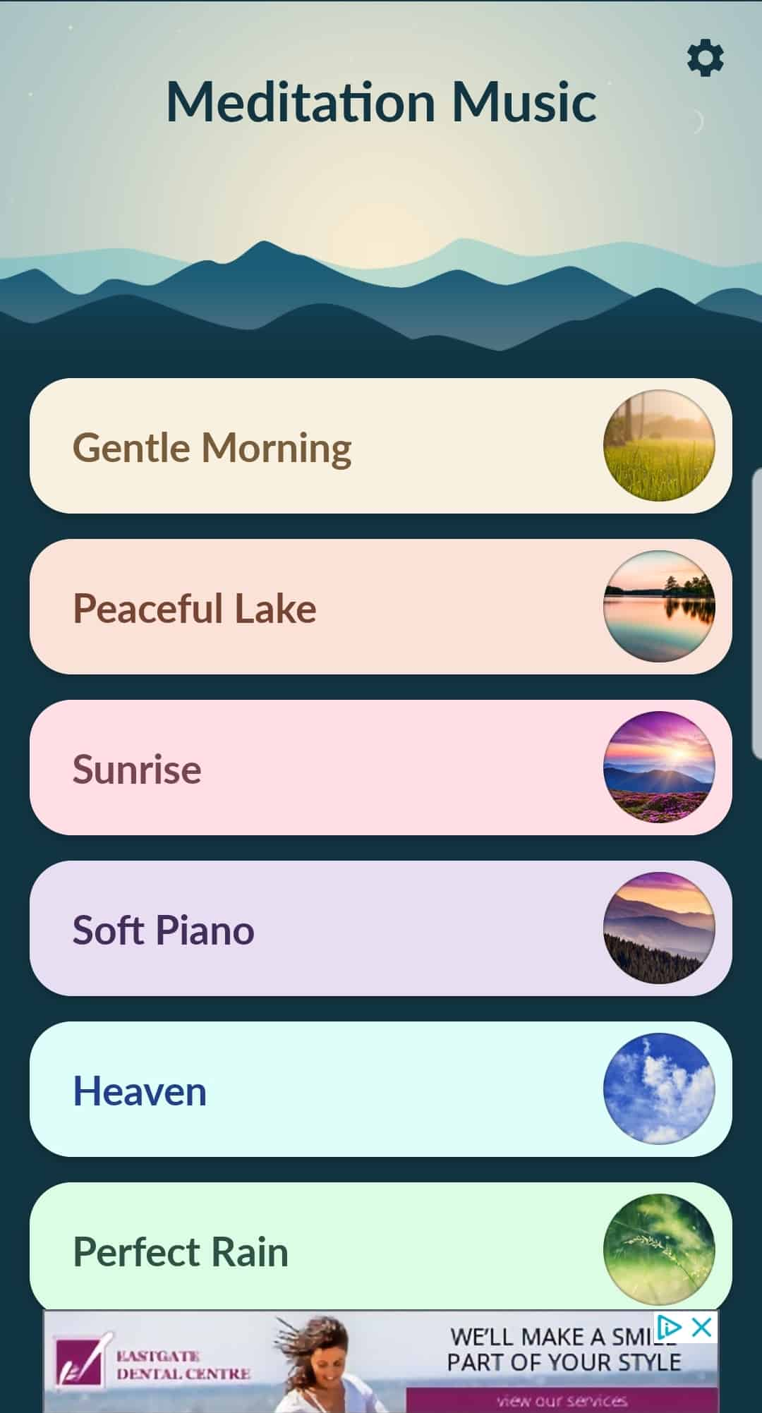 Meditation Music application screenshot