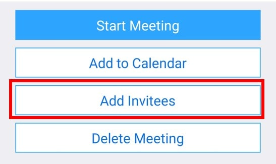 Android meeting add invitees button