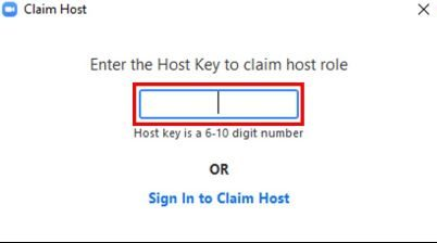 Claim host enter host key