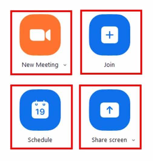 Desktop client action buttons