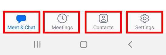 Mobile app menu buttons