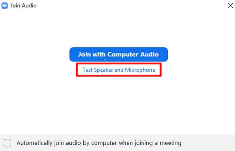 Test speaker and microphone prior to a meeting