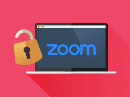 Zoom meeting with padlock