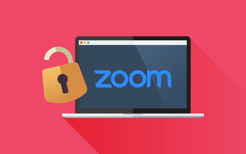 Zoom meeting with padlock