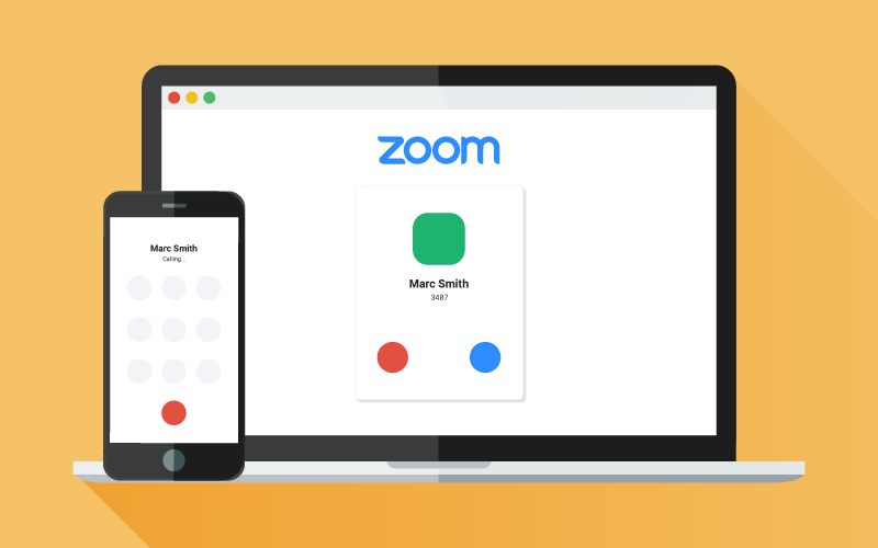Zoom phone call and Zoom meeting call