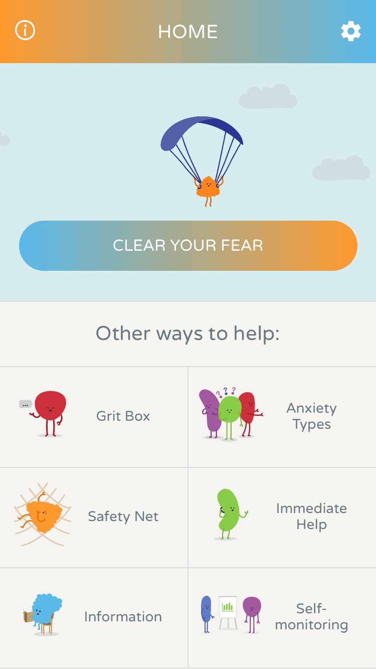 Clear Fear home screen