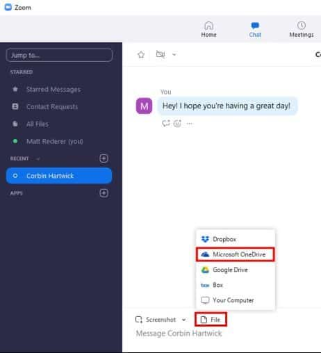Share files from Microsoft OneDrive