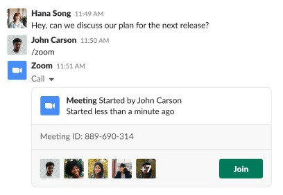 Slack slash command for starting a Zoom meeting