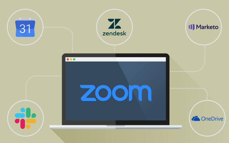 Zoom desktop with top five integrations