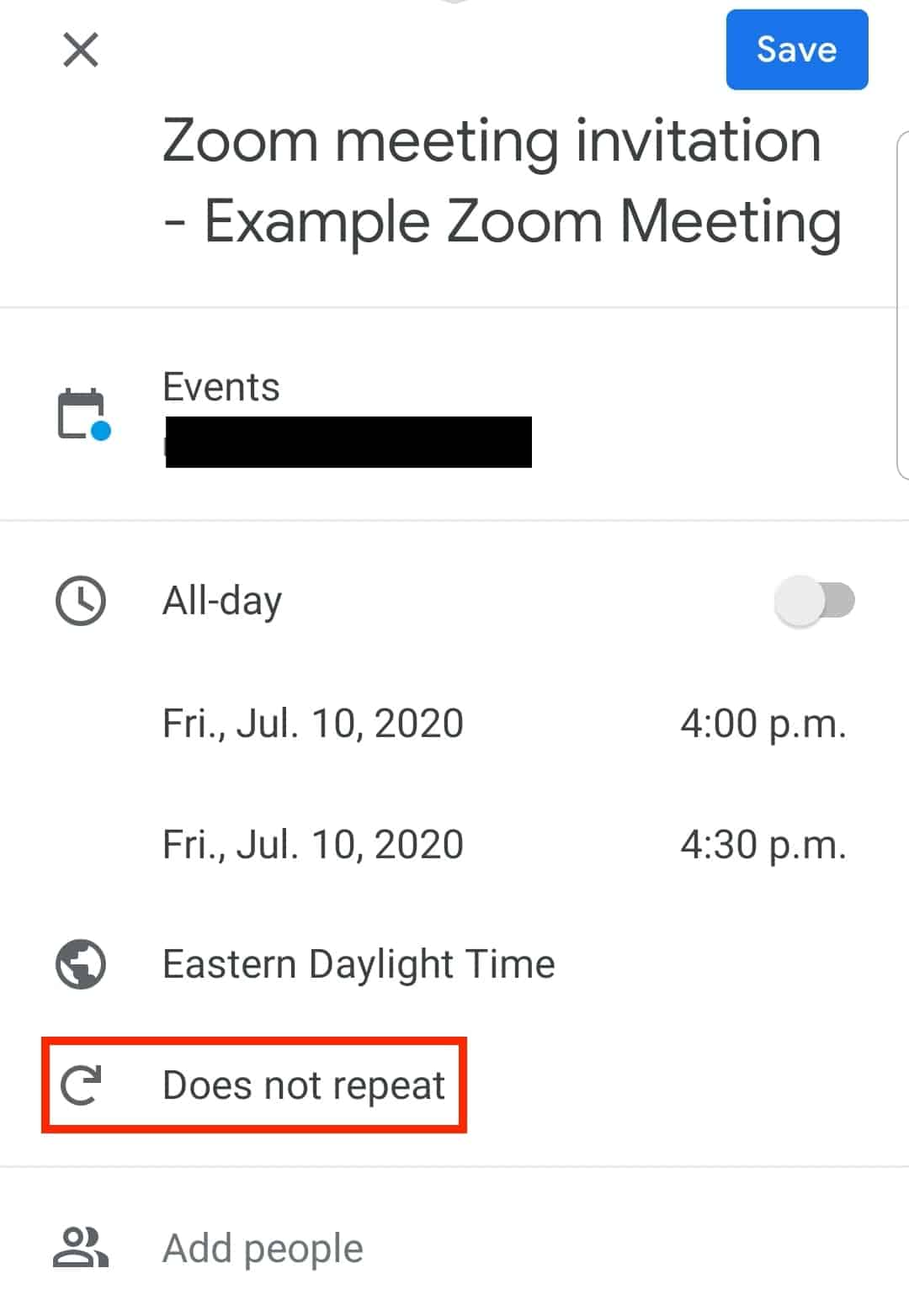 Does not repeat location on screen