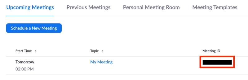 List of upcoming meetings