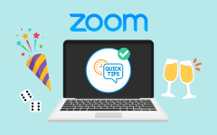 Zoom screen with party tricks and glasses clinking