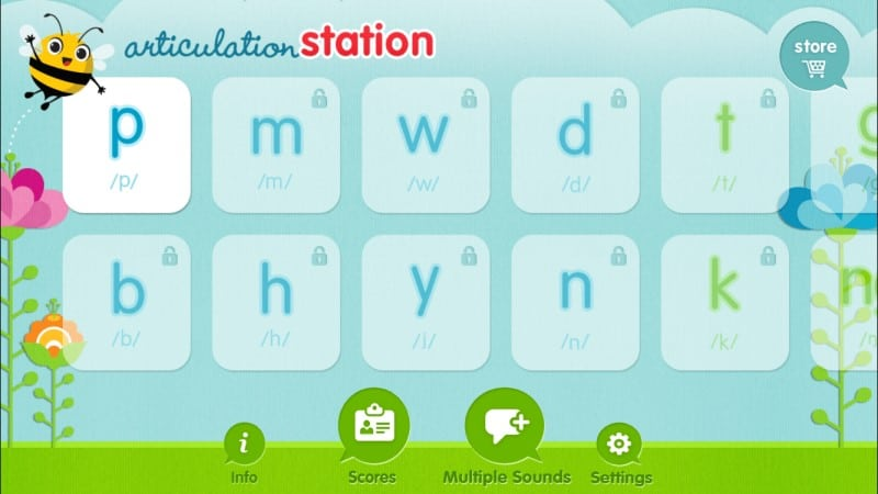 Articulation Station home screen
