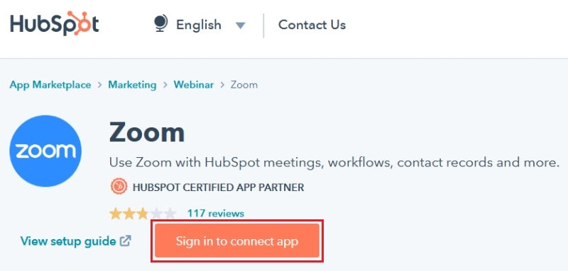 Installing the add-on from the HubSpot App Marketplace