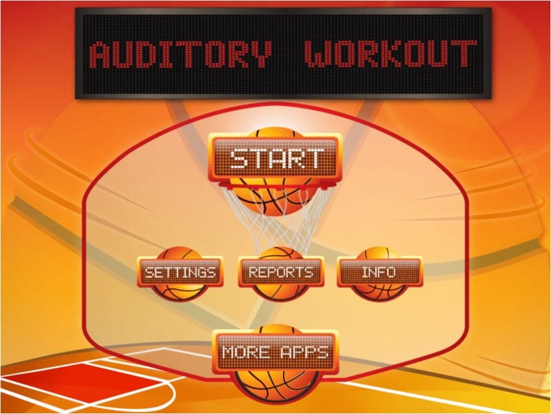 Auditory Workout home screen