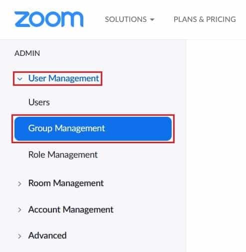 Managing settings for a group on your account