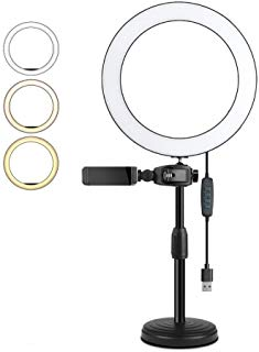 MSKE 6.3 inch rng light with stand and three light modes