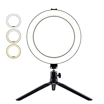 MSKE 6.3 and 7.8 inch ring light with three light modes