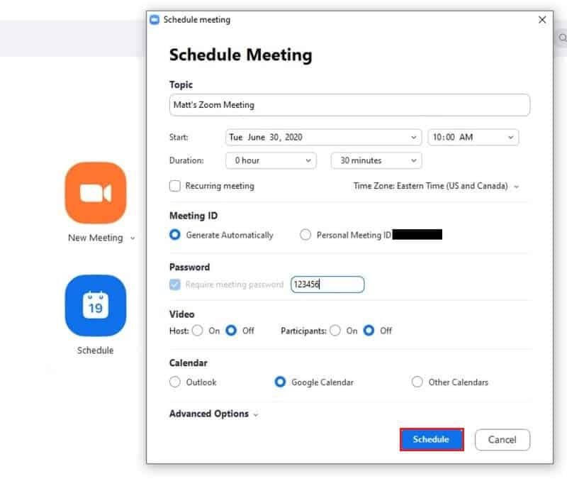 Finish scheduling a meeting