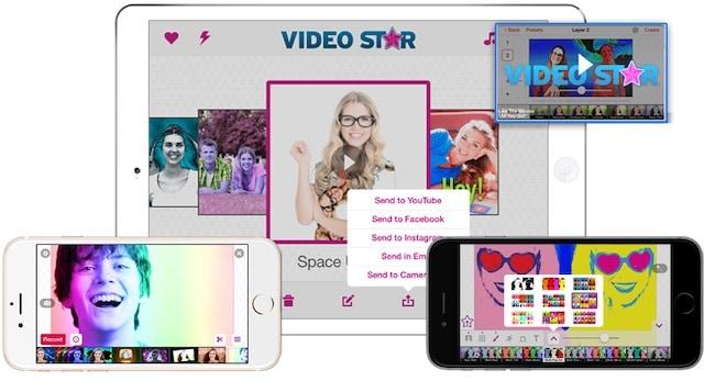 Video Star editing screen