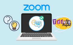 Zoom app being used for trivia night